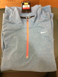 Nike Top, Half Zip, Shelf Fold