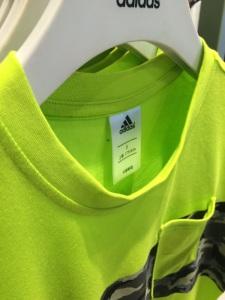 Adidas Neon Camo T-shirt Stretched Neckline