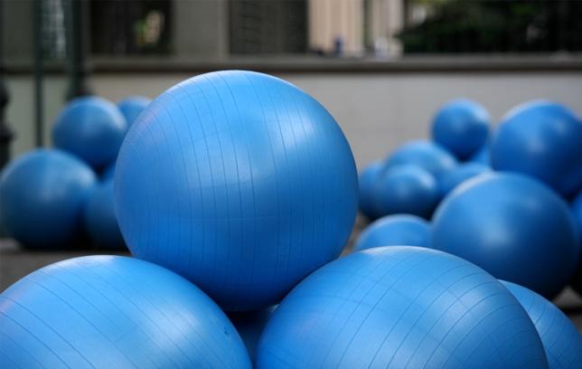 Blue Balance Balls