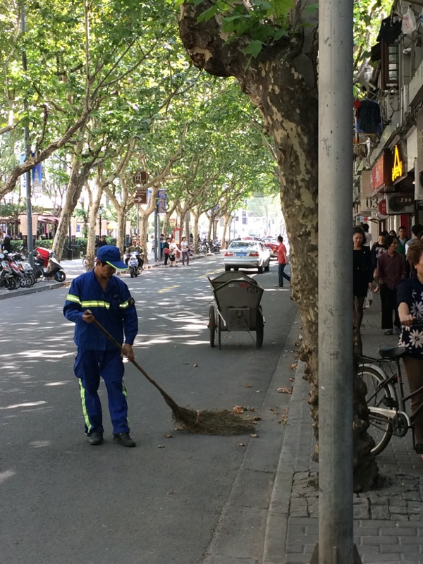 Shanghai street sweeper