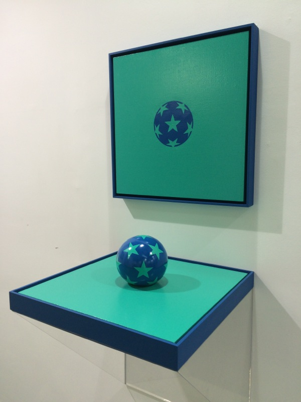 One Blue Ball with many stars