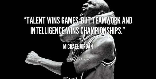 Talent, teamwork, intelligence wins