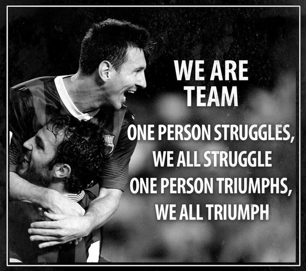 we are a team
