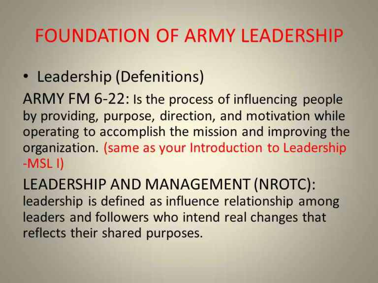 army leadership