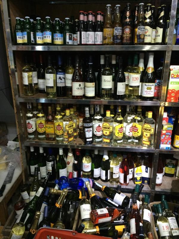 Avacado Lady Liquor Selection